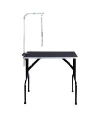 โต๊ะตัดขนขาพับได้ พร้อมเสาสแตนเลส