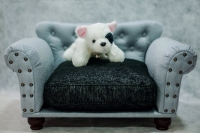 Pink and Gary Sofa for Dog & Cat