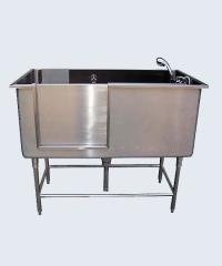 อ่างอาบน้ำสุนัขสแตนเลส ขนาด 65x130 cm.